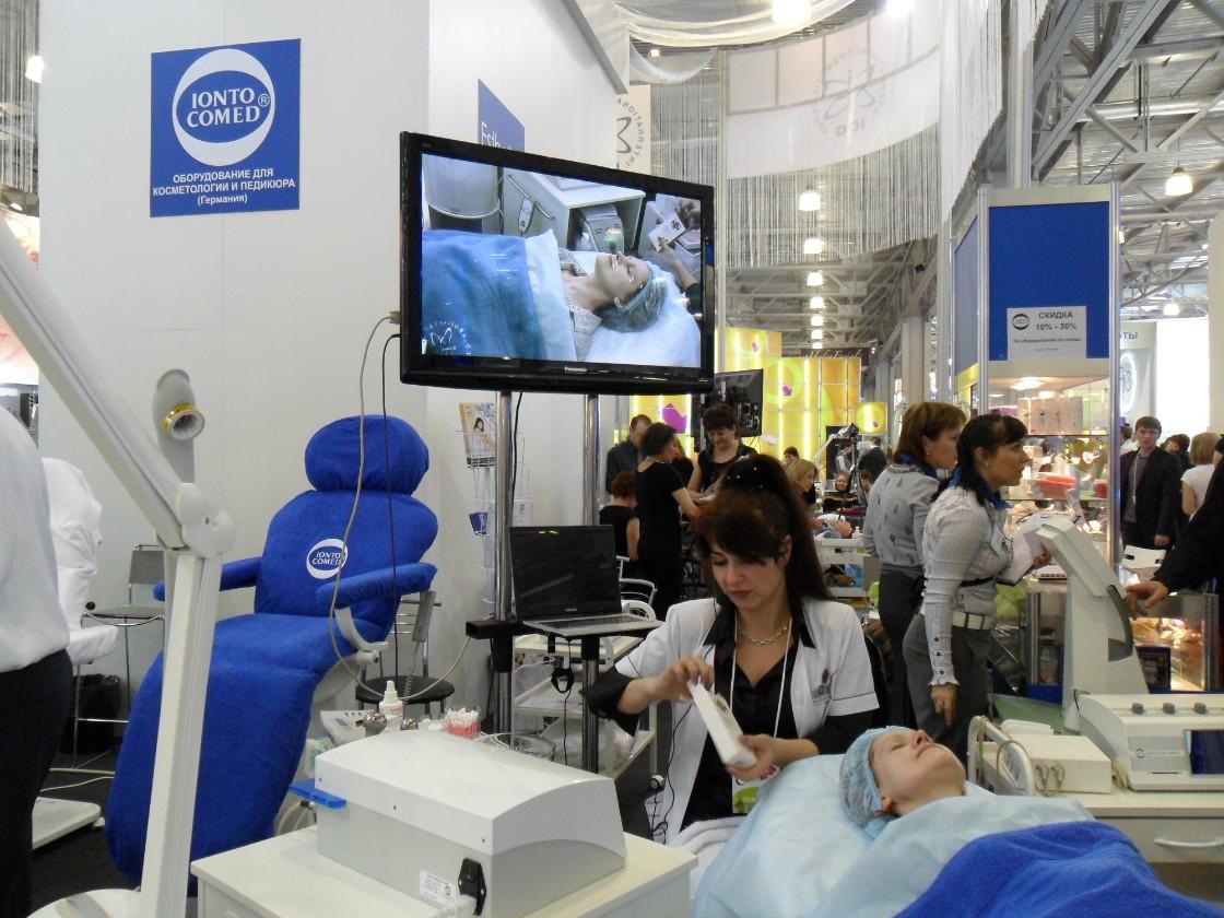 Präsentation von Ultraschall auf der interCHARM-Kosmetikmesse in Moskau_Elena Pietschmann_Kosmetik-Institut SKIN & BEAUTY in Freiburg